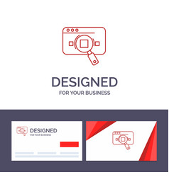 creative business card and logo template research vector image