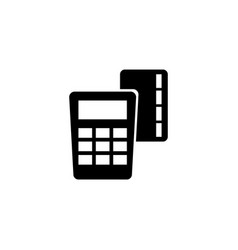 credit card pay pos terminal flat icon vector image