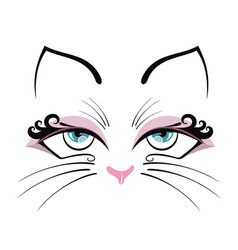 cute cat with blue eyes design vector image