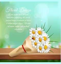daisy realistic gentle composition vector image