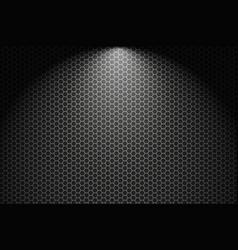 dark horizontal background with hexagons vector image