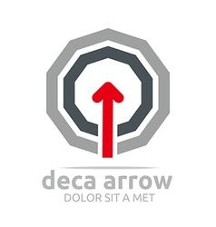 Deca arrow design element symbol icon vector
