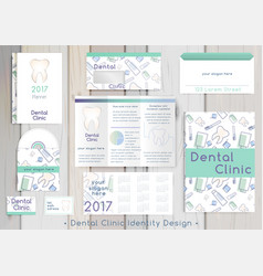 dental clinic corporate identity template vector image