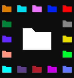 Document folder icon sign Lots of colorful symbols vector