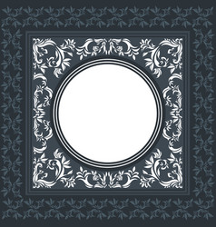 Elegant frame with classic ornament vector