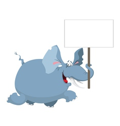 Elephant with a sign vector