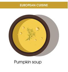 european cuisine pumpkin soup traditional dish vector image