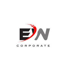 Ew modern letter logo design with swoosh vector