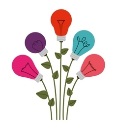 Flower in bulb shape with leaves vector