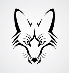 Fox Head Tribal vector image
