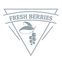 fresh berries logo simple gray style vector image