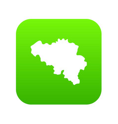 Germany map icon green vector