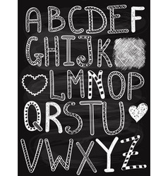Hand drawn chalk letters vector