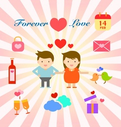 Happy and lovely couple and family info graphic vector