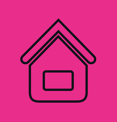 home house flat line icon vector image