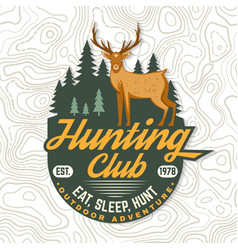 Hunting club eat sleep hunt concept vector