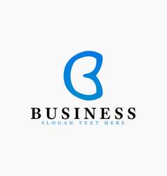 letter b logo design template vector image
