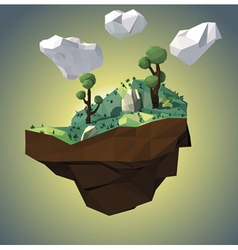 Low poly island vector