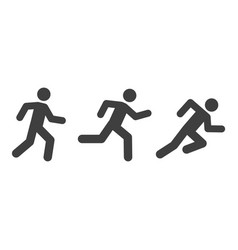 Man running icons with various style vector
