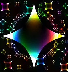 Many colorful stars unusual dark abstract vector