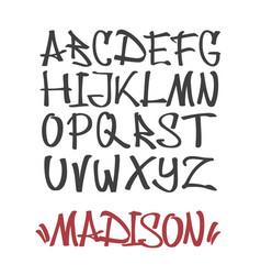 marker graffiti font vector image
