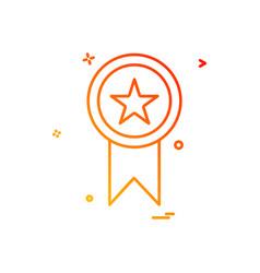 medal award star icon design vector image