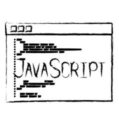 Monochrome blurred silhouette of programming vector