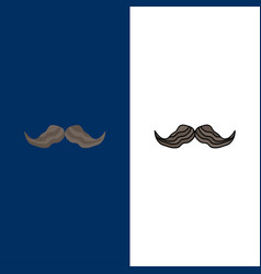 Moustache hipster movember male men flat color vector