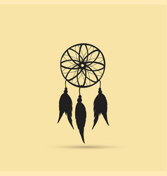 Native american indian dreamcatcher vector