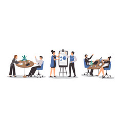 office workplace people business men and women set vector image