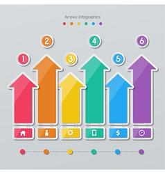 Paper arrow infographics vector
