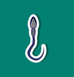 paper sticker on stylish background spermatozoon vector image