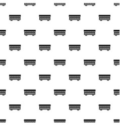 Passenger train car pattern vector