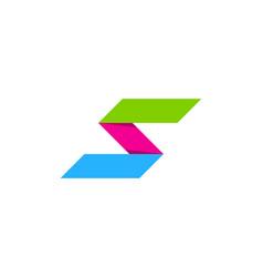 pixel letter s logo icon design vector image