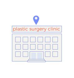 Plastic surgery clinic composition vector