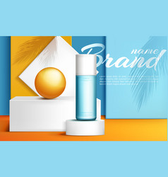 podium stage for product presentation with ball vector image