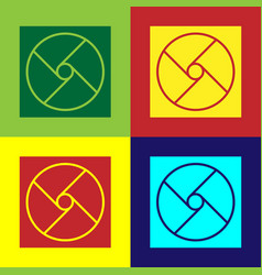 Pop art ventilation icon isolated on color vector