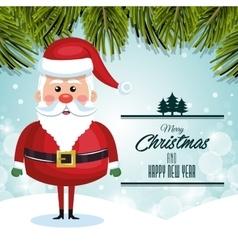 santa claus character greeting merry christmas vector image