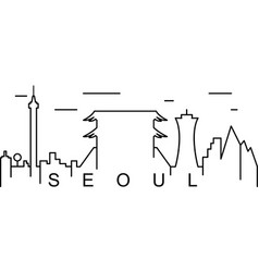 seoul outline icon can be used for web logo vector image