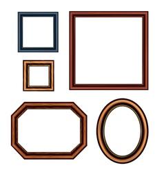 Set of vintage brown picture frames vector