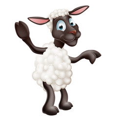 Sheep waving and pointing vector
