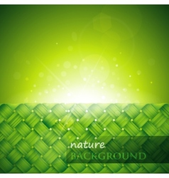 Shiny green background vector