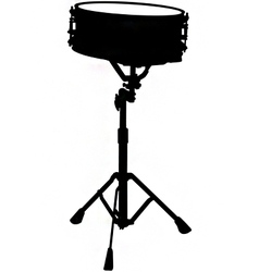Snare drum silhouette vector