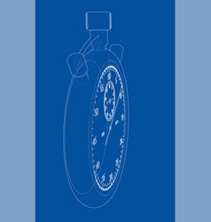 stopwatch or timer sketch vector image