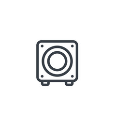 subwoofer icon on white vector image