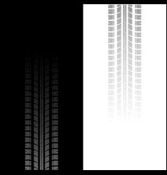 tire track dotted silhouettes vector image