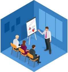 Training concept business man Flat design vector