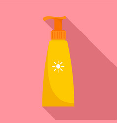 travel dispenser sunscreen icon flat style vector image