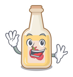 waving apple cider isolated with mascot vector image
