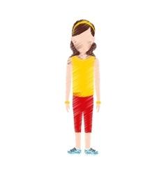 Woman sport wear vector